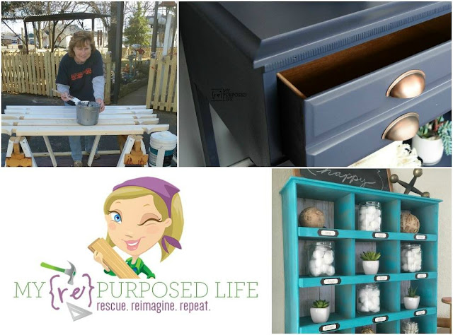 painting a picket fence, repurposed dresser and drawers