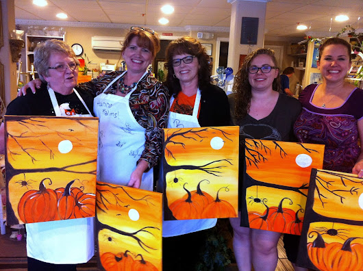 Painting Party and a Wicked Witch Sign
