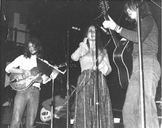 Peter Sharp (electric guitar), Marc Isherwood (bass), Jo Battley (vocals) & JM Davis (12-string guitar)