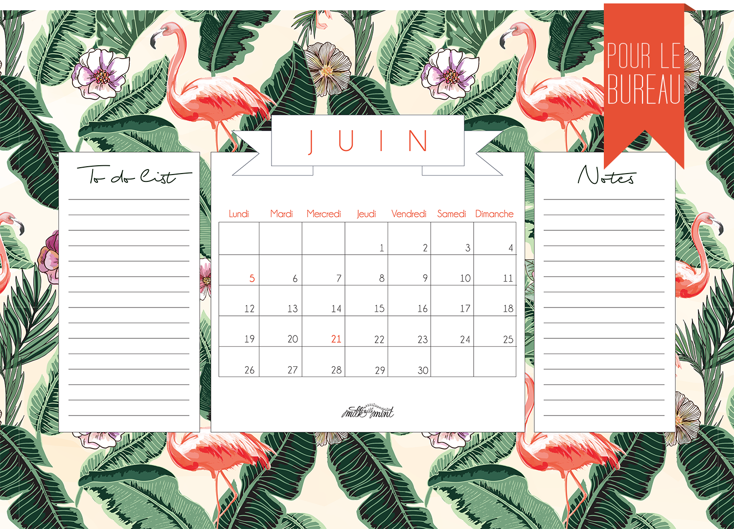 calendrier milk with mint juin 2017