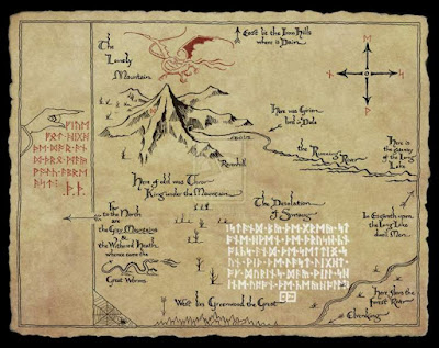 Mapa de Thror en El Hobbit