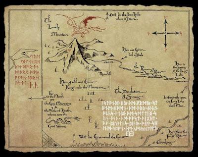 Mapa de Thror en El Hobbit