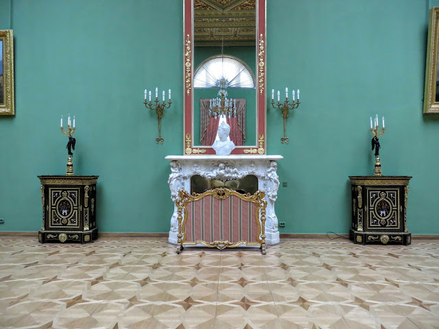 Fireplace in Yusupov Palace in St. Petersburg, Russia