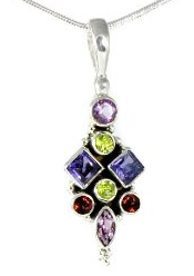 pendant, necklace, sterling, silver, gemstone, jewelry