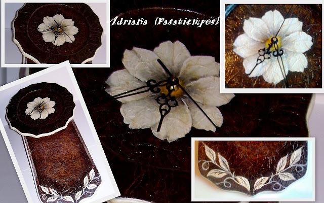 Pintura decorativa sobre madera Imitacion cuero