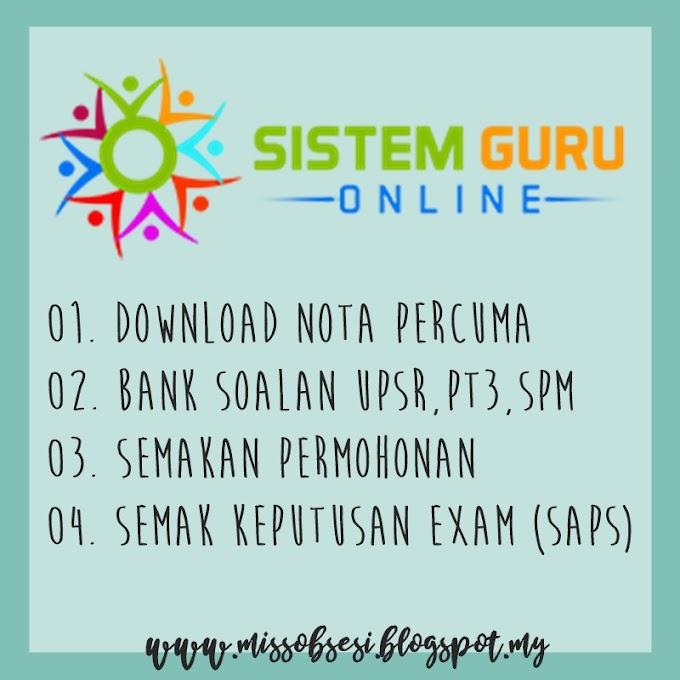 Download Nota Percuma, Bank Soalan Exam, Dan Semak Keputusan Peperiksaan hanya di Sistem Guru Online