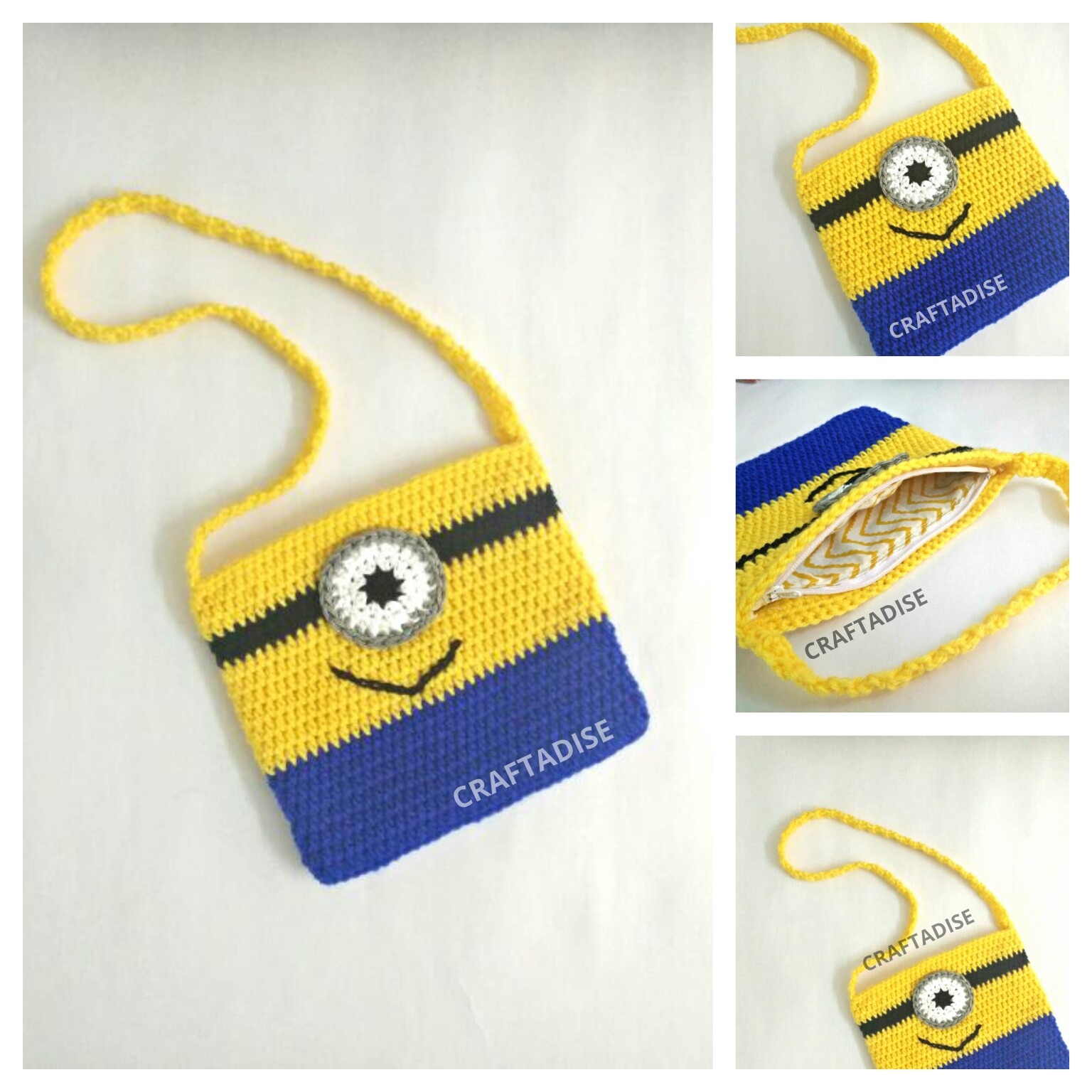 Crochet Mini Minion Sling Bag - Free pattern