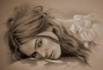 Keira Knightley imagen dibujo a lapiz