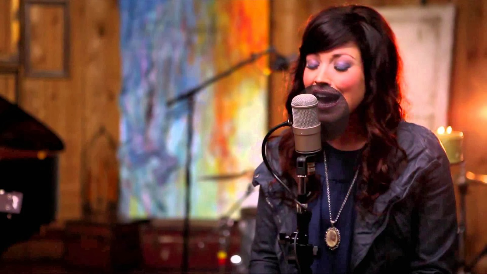 Kari Jobe - Acoustic Tribute to Kari Jobe (2013) singing in studio
