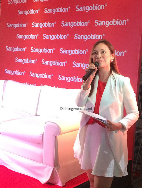 Patty Laurel as a host on Sangobion Press Launch