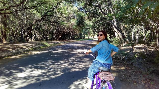 Caminhos bem arborizados em com sombra no Parque General San Martín, em Mendoza.