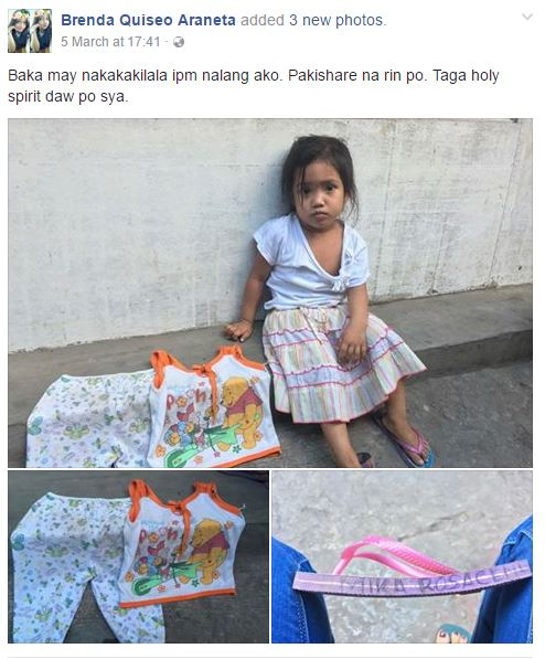 Look Here! A Netizen is Hoping to Help This Lost Little Girl in Quezon City Find Her Family!