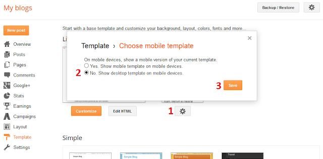 Blush Blogger Template Installation Documentation