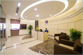 Quầy lễ tân văn phòng công ty Petrolimex