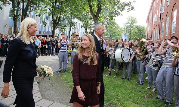 Prince Haakon And Princess Mette-Marit Visited Trondheim