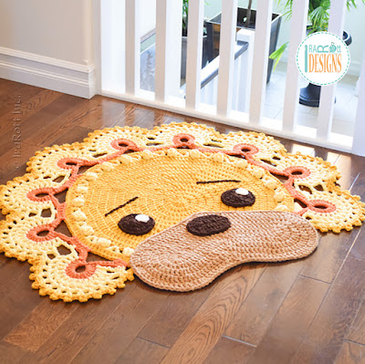 Crochet Lion Rug Pattern