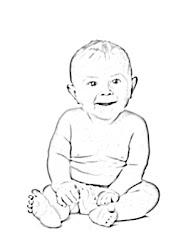 sketch happy drawing human easy line getdrawings