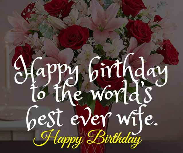 Happy birthday to the world's best ever wife.