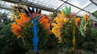 Carnaval tropical brasileño en el Festival de orquídeas de Kew Gardens
