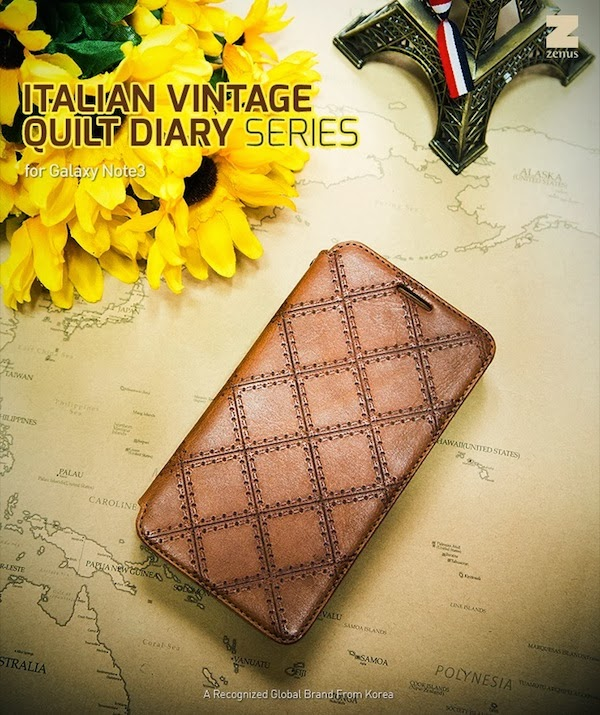 Italian Vintage Quilt Diary Case
