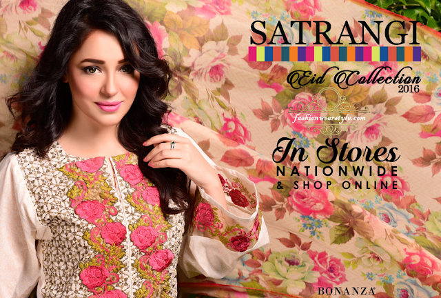 Satrangi Eid Collection By Bonanza 2016 www.fashionwearstyle.com