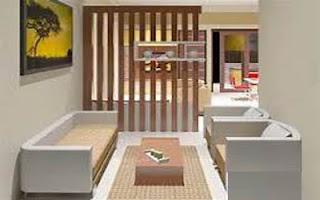 10 Gambar sekat ruang tamu minimalis modern dan mewah
