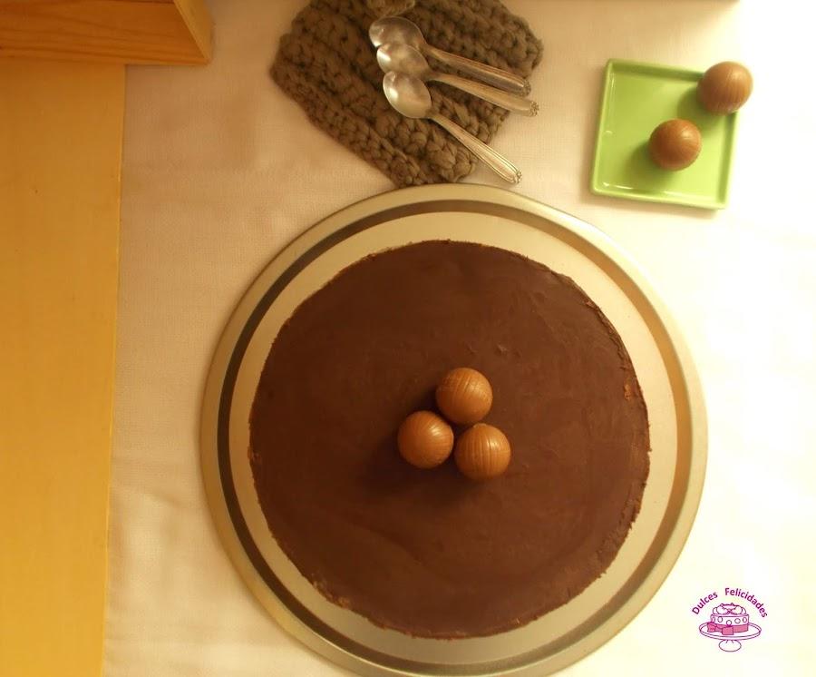 Tarta mousse de chocolate negro
