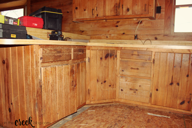 Cabin kitchen renovation | Before Photos