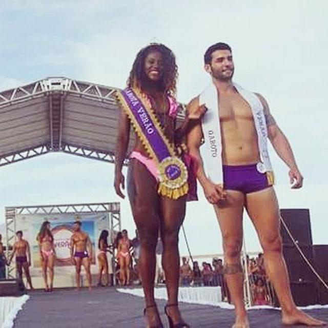 Matheus Lopes e Michele Rodrigues foram eleitos Garoto e Garota Verão 2016. Foto: Arquivo pessoal