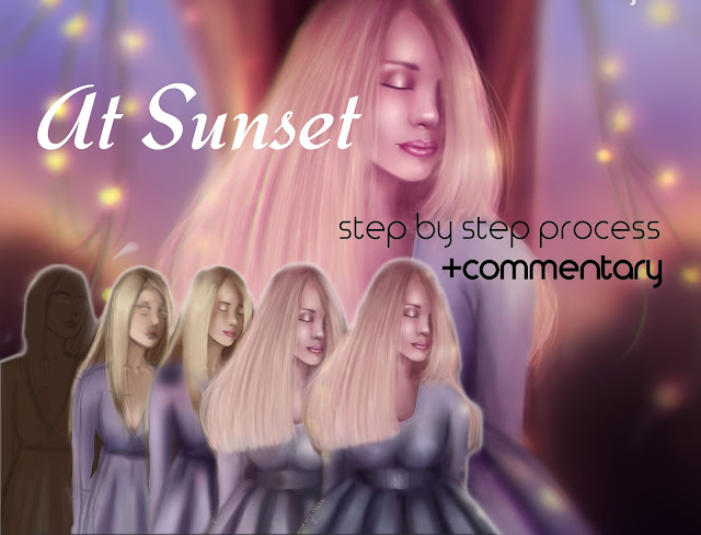 "Digital Painting Step By Step Process +Commentary! - ""At Sunset"""
