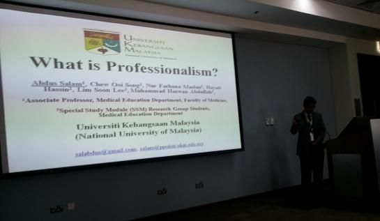 Presenting Paper What is Professionalism? at AMEER-2013, Kingdom of Saudi Arabia