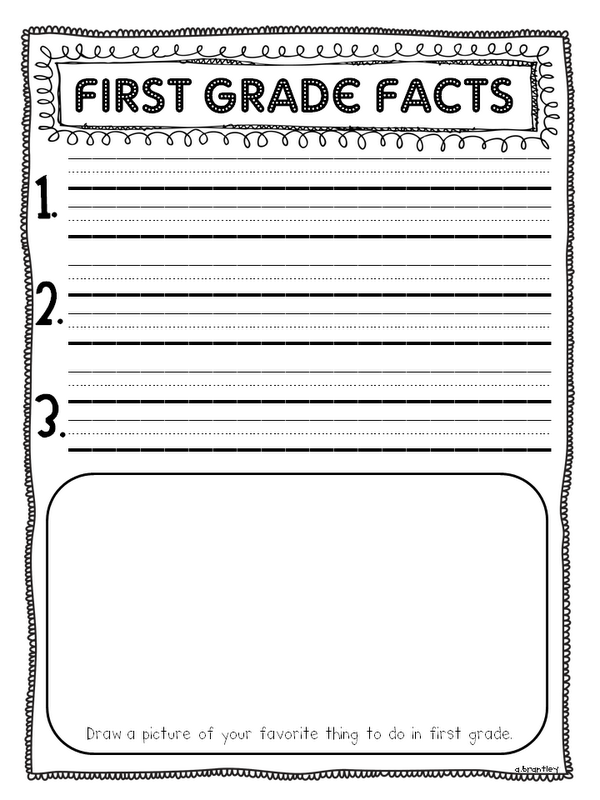 end of year writing activities for 1st grade