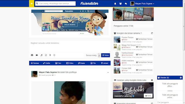 Tampilan Baru Friendster.id Indonesia