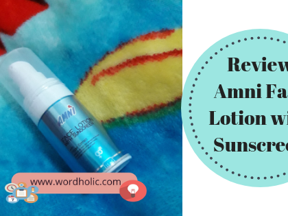 Review Amni Face Lotion with Sunscreen