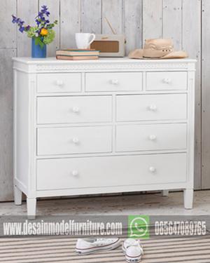 Dresser minimalis cat duco putih