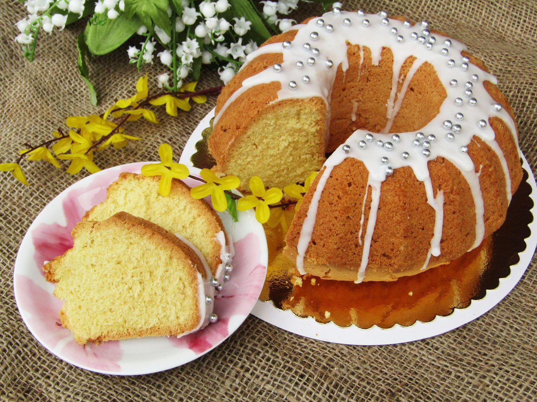 Tradycyjna Kuchnia Kasi Babka Piaskowa Pachnąca Wanilią