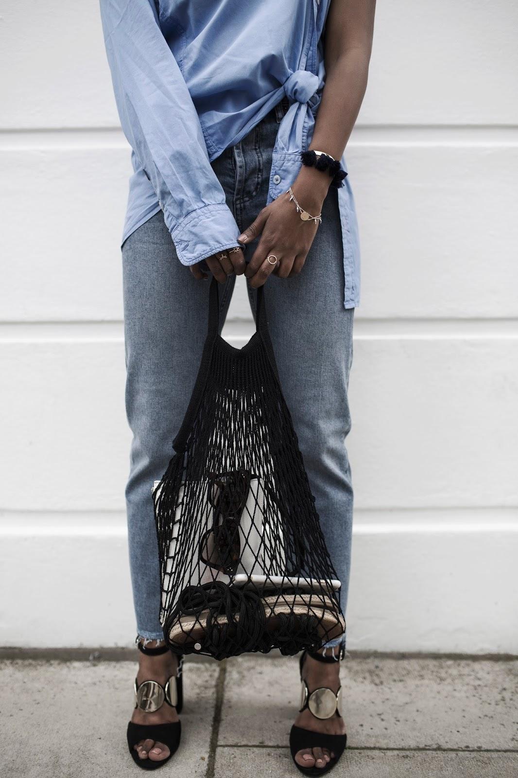 bolsa de red o net bag cómo llevar