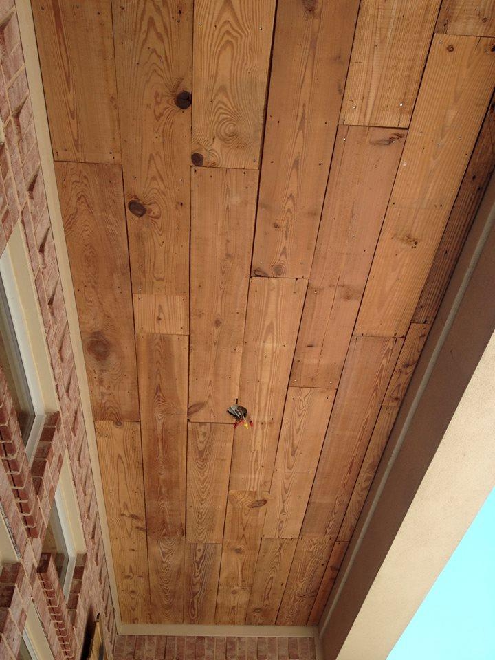 Crafty Texas Girls Build It Reclaimed Wood Ceiling