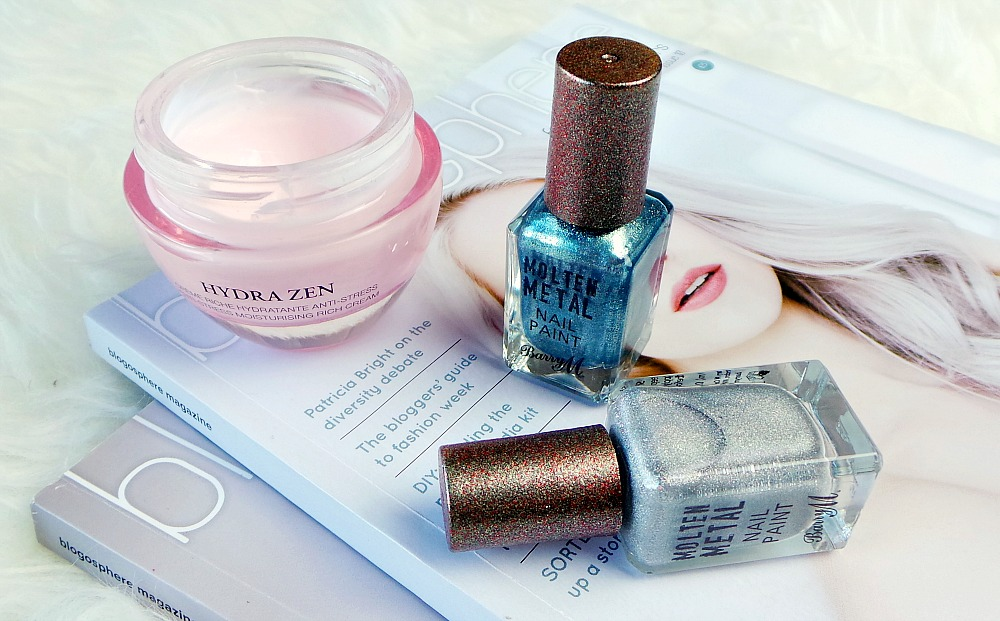 Barry M Molten Metal Nail Polish in Blue Glacier