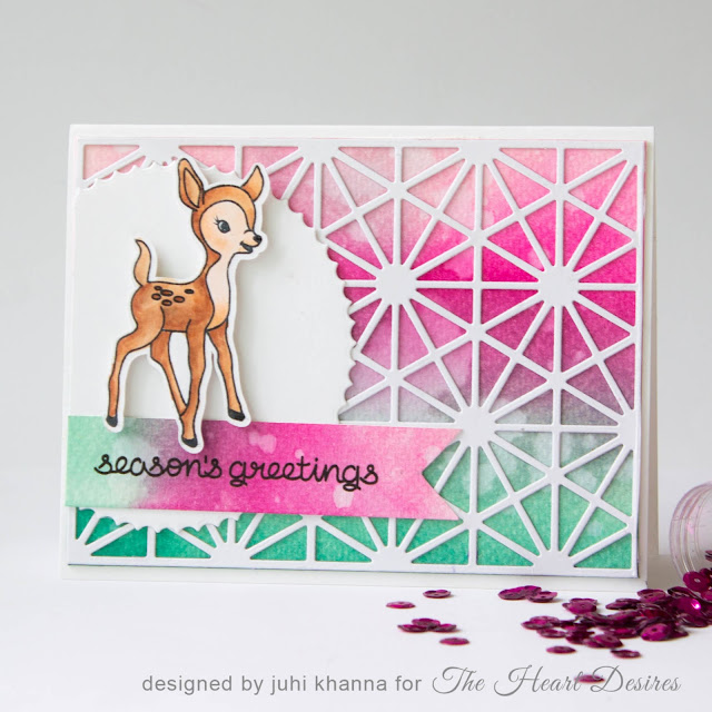 "Neat and Tangled and avery elle ""Season's Greetings"" card"