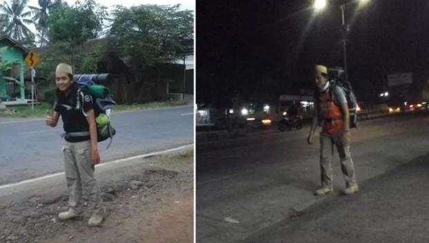 SubhanAllah !! Ini Dia Rute Jalan Kaki Khamim dari Pekalongan - Mekah, Tempuh 12.724 Km