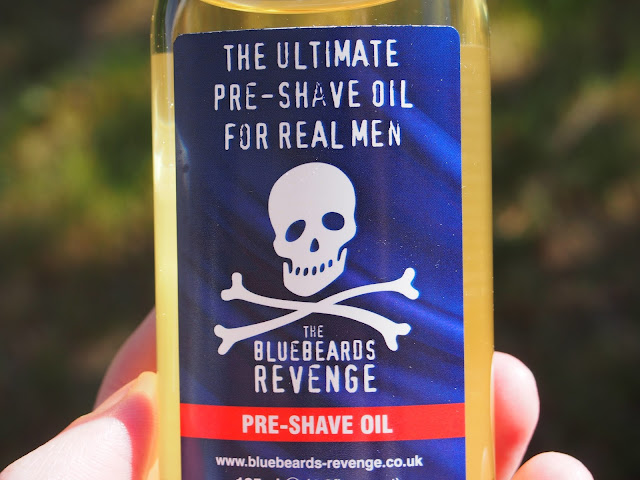 bottle of Bluebeards Revenge Pre-Shave Oil