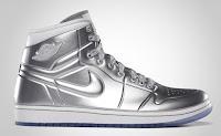 Air Jordan Silver Shoe