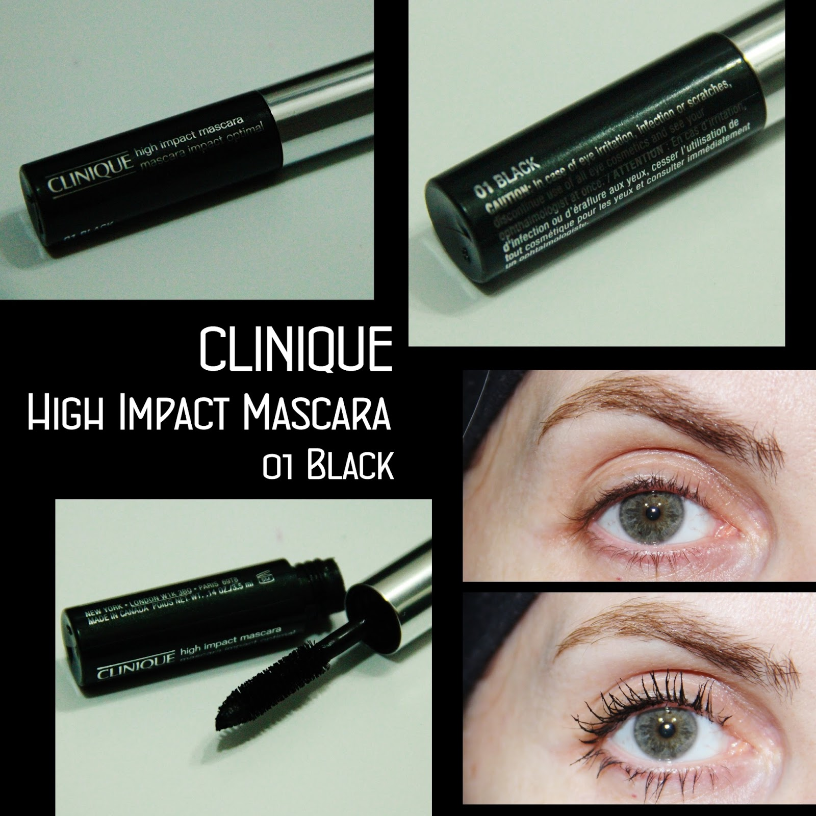 MichelaIsMyName: CLINIQUE High Impact Mascara 01 Black REVIEW