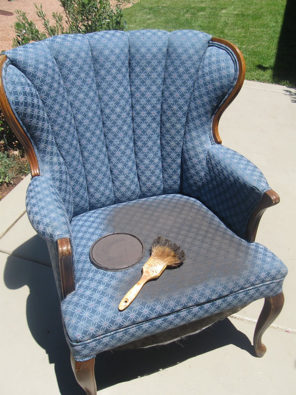 """Penny For Penny: My """"Painting Over Upholstery"""" Chair"""