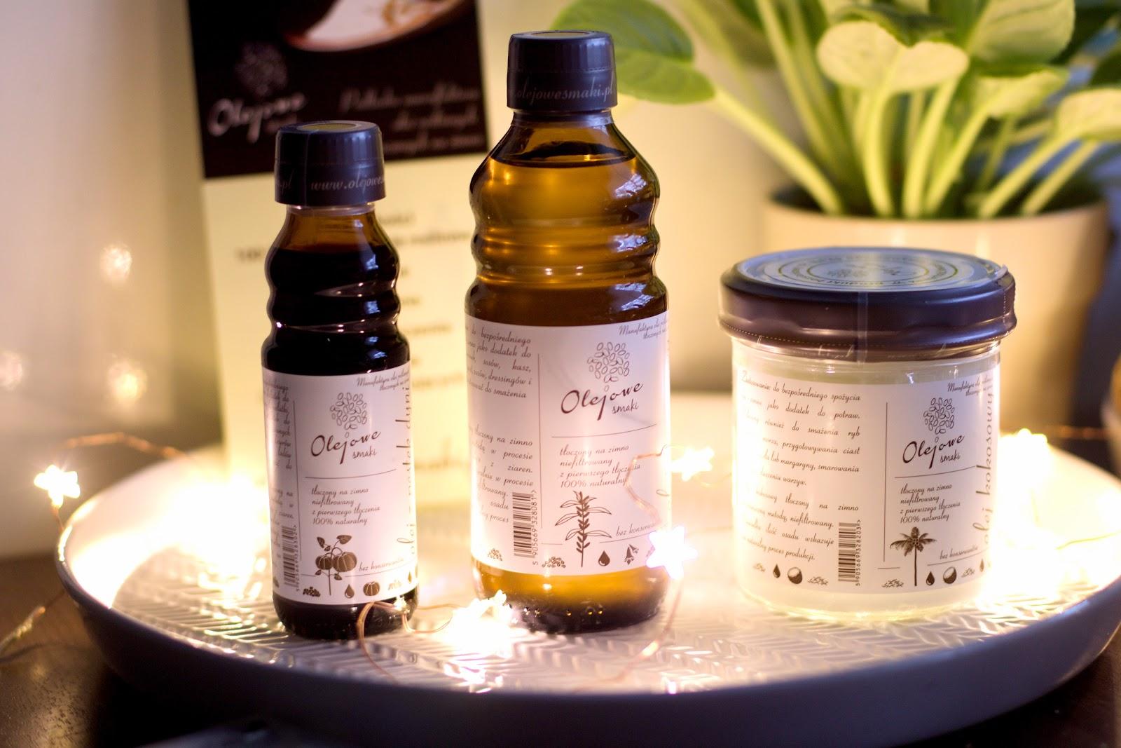 70f4fb52e710 Dziś chciałam wam pokazać kilka produktów firmy OLEJOWE SMAKI. Jak wiecie  nie samymi kosmetykami człowiek żyje. Dodatkowo lubię wspierać polskie  marki