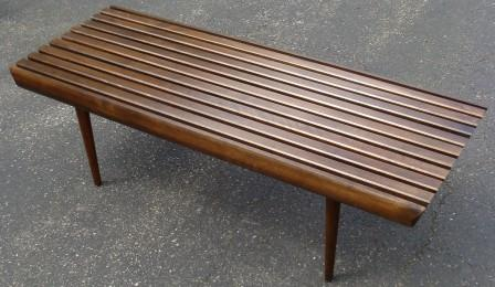 Sofa Table 84 Inches Small Sectional Value City Furniture Nicole Wood Interiors: Sold! Mid Century Slat Bench!!!