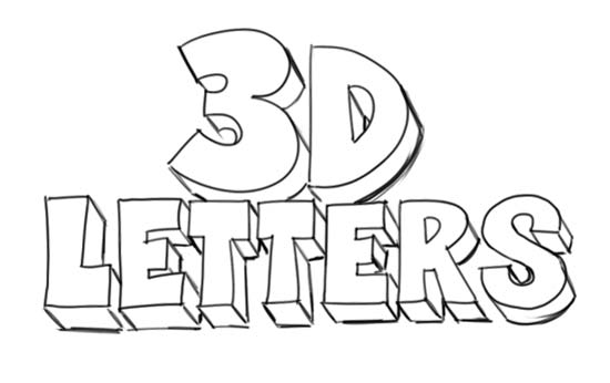 how to draw letters in 3d migz 24778
