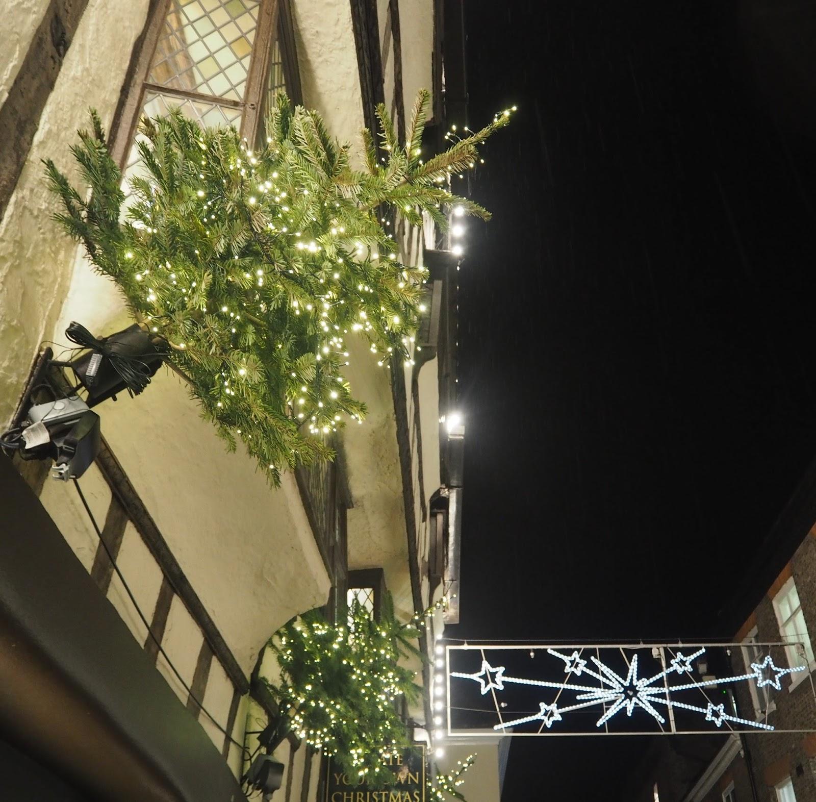 Christmas lights at York