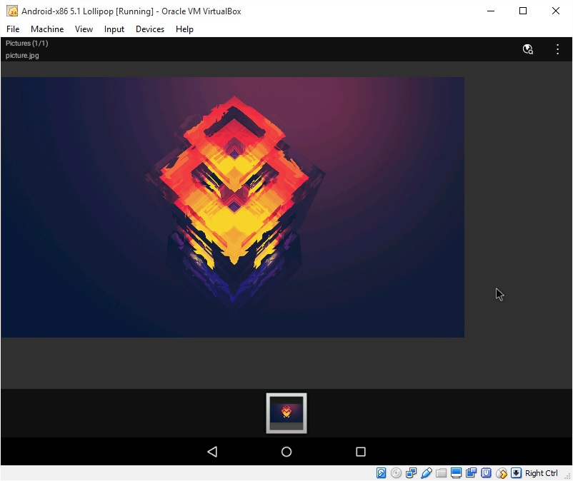 How to transfer file to Android-x86 Lollipop VirtualBox with Android